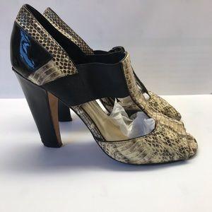 Vince Camuto Snake Skin Peep Toe Heels